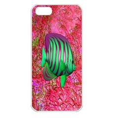 Fish Apple Iphone 5 Seamless Case (white) by icarusismartdesigns