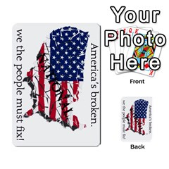 Shattered States National Deck 1 By Steve Fowler   Multi Purpose Cards (rectangle)   3nwr4m7vt60d   Www Artscow Com Front 3