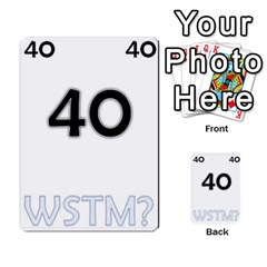 Who Starts This Mess? Card Deck By Gary H   Multi Purpose Cards (rectangle)   5s83ygdjn7wb   Www Artscow Com Front 40