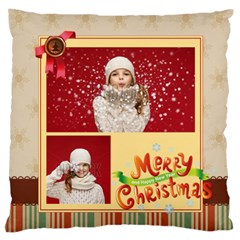Xmas By Xmas   Large Flano Cushion Case (two Sides)   Xo3vnwwamgpt   Www Artscow Com Front