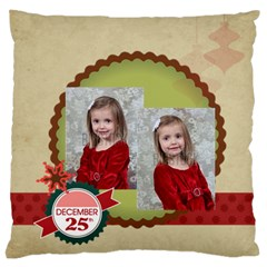 Xmas By Xmas   Large Flano Cushion Case (two Sides)   61n49wt7vt1r   Www Artscow Com Front