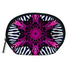 Crazy Hot Pink Zebra  Accessory Pouch (medium)