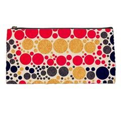 Retro Polka Dots  Pencil Case by OCDesignss