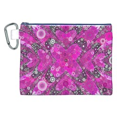 Dazzling Hot Pink Canvas Cosmetic Bag (xxl) by OCDesignss