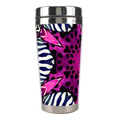 Crazy Hot Pink Zebra  Stainless Steel Travel Tumbler by OCDesignss