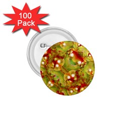 Christmas Print Motif 1 75  Button (100 Pack) by dflcprints