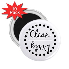 Fridge Magnet Black 2.25  Button Magnet (10 pack) by girlwithdesignideas