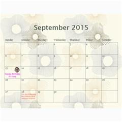 4 Dragon Calendar By Alice Lam   Wall Calendar 11  X 8 5  (18 Months)   4v8tryyrnwsf   Www Artscow Com Sep 2015