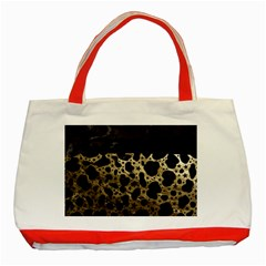 Cheetah Stars Gold  Classic Tote Bag (red) by OCDesignss