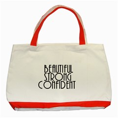 Beautiful Strong Confident  Classic Tote Bag (red) by OCDesignss