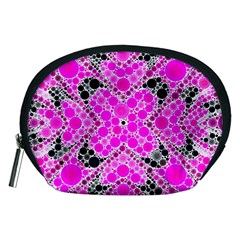 Bling Pink Black Kieledescope  Accessory Pouch (medium) by OCDesignss