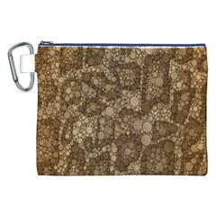 Snake Skin Abstract Canvas Cosmetic Bag (xxl) by OCDesignss