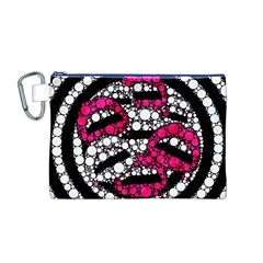 Bling Lips  Canvas Cosmetic Bag (medium) by OCDesignss