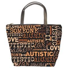I Love Someone Autistic  Bucket Handbag by OCDesignss