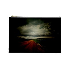Dark Empty Road Cosmetic Bag (large) by dflcprints