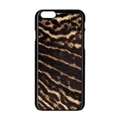 Leopard Texture  Apple iPhone 6 Black Enamel Case by OCDesignss