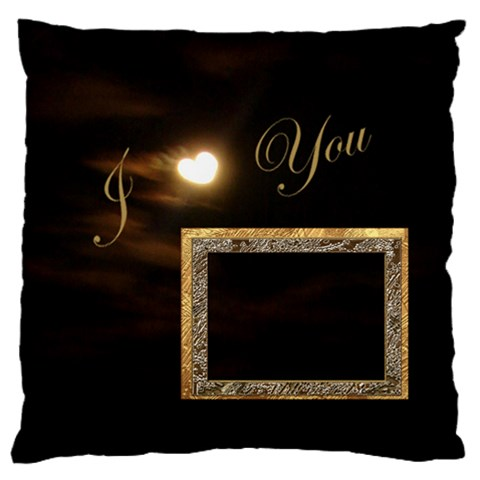 I Heart You Moon Large Flano Cusion Case By Ellan   Large Flano Cushion Case (one Side)   Kddvgmp435gj   Www Artscow Com Front