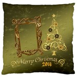 Christmas2 large flano cusion case - Large Flano Cushion Case (One Side)