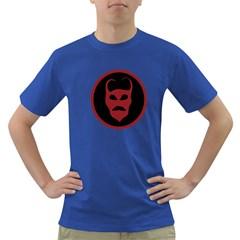 Devil Symbol Logo Men s T-shirt (Colored) by dflcprints