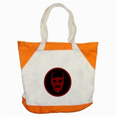 Devil Symbol Logo Accent Tote Bag