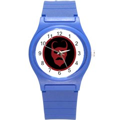 Devil Symbol Logo Plastic Sport Watch (small) by dflcprints