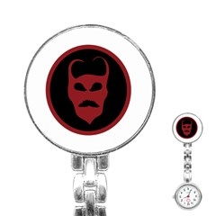 Devil Symbol Logo Stainless Steel Nurses Watch by dflcprints