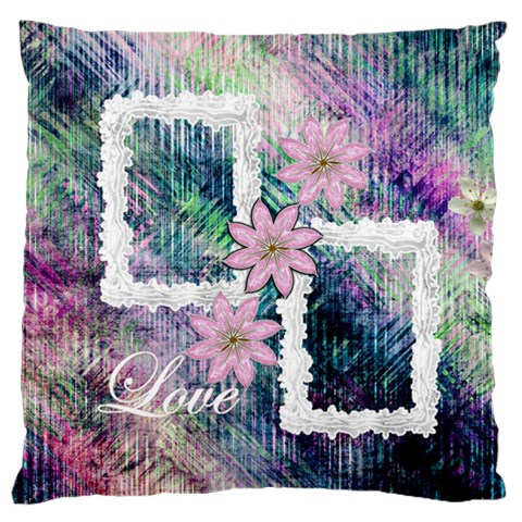 Pastel Floral Love Flano Cushion Case By Ellan   Standard Flano Cushion Case (one Side)   Wvksr3rovcl4   Www Artscow Com Front