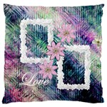 Pastel Floral Love flano cushion case - Standard Flano Cushion Case (One Side)