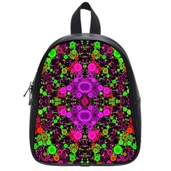 Abstract Florescent Unique  School Bag (small) by OCDesignss