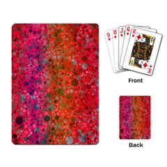 Florescent Abstract  Playing Cards Single Design by OCDesignss