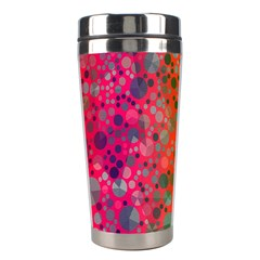 Florescent Abstract  Stainless Steel Travel Tumbler by OCDesignss