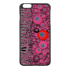 Pink Zebra Abstract Apple Iphone 6 Plus Black Enamel Case by OCDesignss