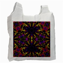 Color Bursts  White Reusable Bag (one Side) by OCDesignss