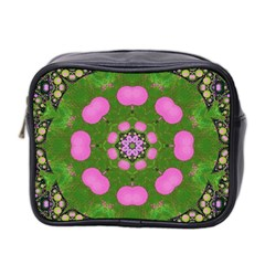 Pink Spearmint Bubble Gum  Mini Travel Toiletry Bag (two Sides) by OCDesignss