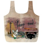 Cat-Bag-001 - Full Print Recycle Bag (XL)