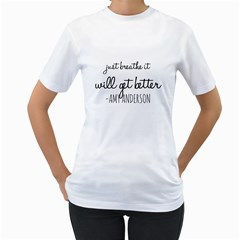 Just Breathe  Women s Two-sided T-shirt (White) by OCDesignss