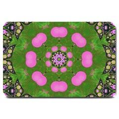 Pink Spearmint Bubble Gum  Large Door Mat by OCDesignss