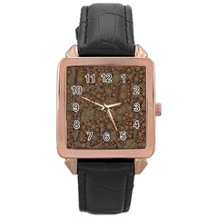 Perculated Snake  Rose Gold Leather Watch  by OCDesignss