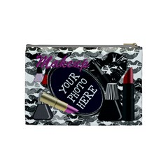 Makeup Black Cosmetic Bag M By Chere s Creations   Cosmetic Bag (medium)   704qky6pc8ws   Www Artscow Com Back