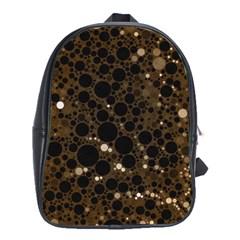 Brown Cream Abstract  School Bag (xl) by OCDesignss