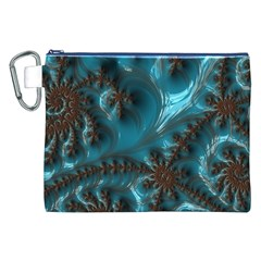 Glossy Turquoise  Canvas Cosmetic Bag (xxl) by OCDesignss