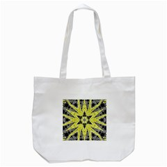 Bright Yellow Black  Tote Bag (white) by OCDesignss