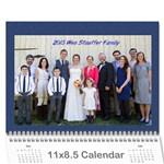 2015 stauffer calendar - Wall Calendar 11  x 8.5  (12-Months)