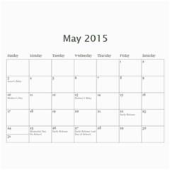 Calendar 2014 By Kathleen    Wall Calendar 11  X 8 5  (12 Months)   Mly2jwr136op   Www Artscow Com May 2015