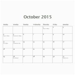 Calendar 2014 By Kathleen    Wall Calendar 11  X 8 5  (12 Months)   Mly2jwr136op   Www Artscow Com Oct 2015