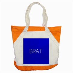 Brat Blue Accent Tote Bag by OCDesignss