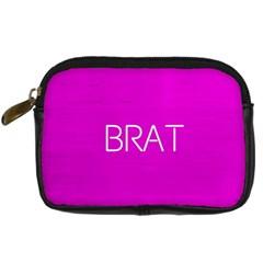 Brat Pink Digital Camera Leather Case by OCDesignss