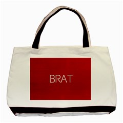 Brat Red Twin-sided Black Tote Bag by OCDesignss