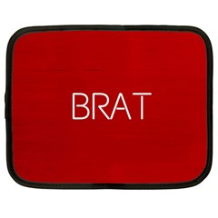 Brat Red Netbook Sleeve (large) by OCDesignss