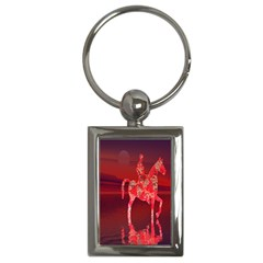 Riding At Dusk Key Chain (rectangle) by icarusismartdesigns